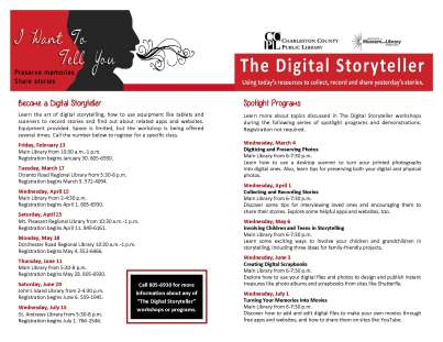 Digital Storyteller Flyer